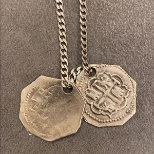 Miansai Sterling Silver Coin Necklace